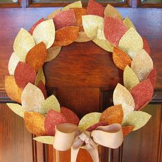 Glitter Wreath | So You Think You're Crafty