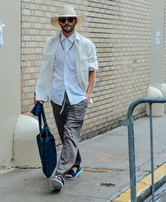 #streetstyle | NEUTRAL COLORS are the new cool | Tommy Ton's Best Street-Style Pics From the Men's Shows