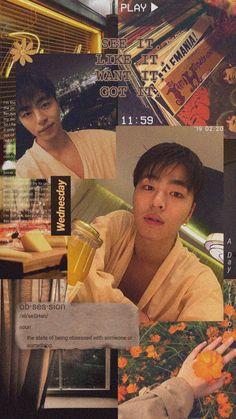 #JUNE #JUNHOE #iKON #koojunhoe #아이콘 #준회 #구준회 #주내 #wallpaper #lockscreen #aesthetic #orange Ikon Kpop, Ikon Junhoe, Kim Jinhwan, Hanbin, Yg Entertaiment, Ikon Member, Ikon Wallpaper, Win My Heart, Dream Guy