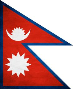 Nepal flag- the only official state flag in the world that isn't a rectangle <3