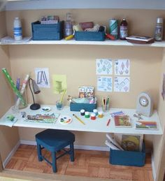 Makayla would love this!1  miniature craft room!