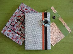 Simple tute for covering hard covered note books I've done this to the comp. note books too!