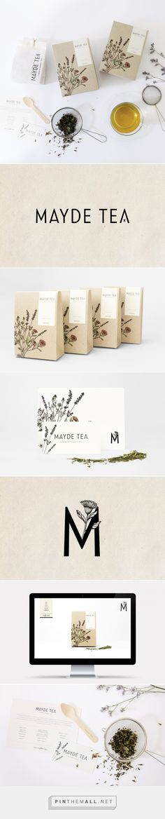 MAYDE Tea Branding and Packaging by Smack Bang Designs / Branding Ideas / Inspiration / Botanical / Natural / Organic / Wellness / Vintage - zahnpasta Corporate Design, Graphic Design Branding, Identity Design, Logo Design, Corporate Style, Brand Design, Visual Identity, Brand Identity, Branding And Packaging