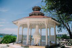 This gazebo overlooking the Caribbean is perfect for a romantic wedding celebration! #GazeboWedding #Jamaica