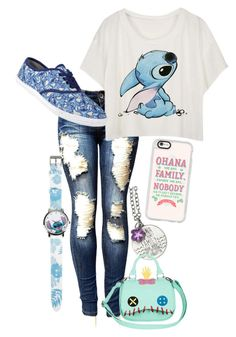 """Lilo and stitch (but mostly stitch)"" by smartfashion-1 on Polyvore featuring Disney and Casetify"
