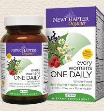 Every Womens One Daily Vitamin from New Chapter.  The only multi- vitamin that does not make me sick.  I love it!  I have been taking it now for 5 years, will never take anything else.