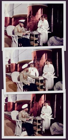 Nicholas and Alexandra on Board the Imperial Yacht.