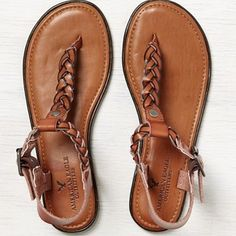 American Eagle Outfitters American Eagle Braided Thong Sandals