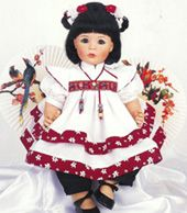 "Susan Wakeen ""Linn"" - Asian/Korean. Beautiful Oriental Signature Series Vinyl collectible Doll. ADVERTISEMENT PHOTO."