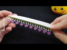 Crochet Edging Patterns, Tatting, Diy And Crafts, Youtube, Wallet, Sewing, Craft Ideas, Towels, Punch Needle