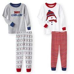 Koala Kids 4 Piece Winter Fun Pajama Set - Toddler