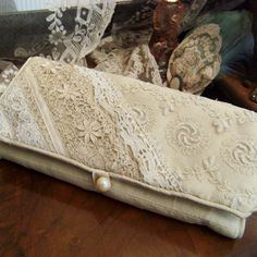 Lace jewellery roll as a handbag? Found via Love my Dress - try to incorporate gmas old wedding dress into it