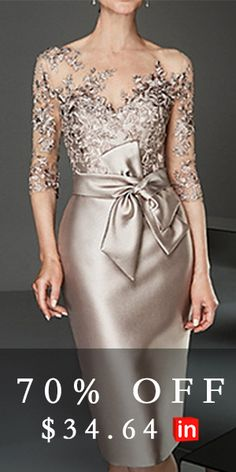 Women's Slim Bodycon Dress - Solid Colored Boat Neck Lace Gold S M L XL Source by brigitteholzheu dresses evening Mother Of Groom Dresses, Mother Of The Bride, Bride Dresses, Lace Dresses, Elegant Dresses, Beautiful Dresses, Formal Dresses, Party Dresses, Cheap Maxi Dresses
