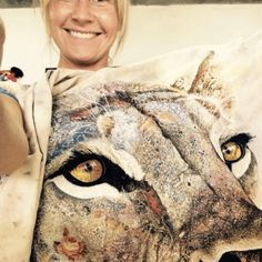 Thread Painting with Sophie Standing – AURIbuzz Photo Quilts, Animal Quilts, Creative Embroidery, Thread Painting, Liberty Of London, Textile Artists, Life Drawing, My Animal, The Magicians