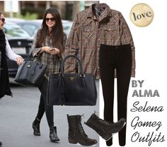 """Selena Gomez Outfits"" by almagotswag ❤ liked on Polyvore"