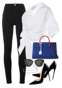 """""""Untitled #2871"""" by camilae97 ❤ liked on Polyvore featuring Givenchy, Johanna Ortiz, Yves Saint Laurent and Prada"""