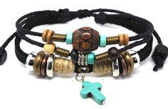 Leather Bracelet Handmade Unisex  by CookalasHouseOfCards on Etsy, $7.00