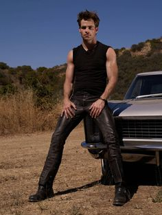 Get Exclusive Chris Pine Details Magazine Cover Leather Pant at affordable price from SlimFit Jackets Tight Leather Pants, Leather Jeans, Chris Pine, Leather Fashion, Mens Fashion, Teenage Guys, Sexy Teens, Attractive Men, Celebrity Pictures