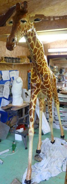 How Michele Made Her Paper Mache Giraffe
