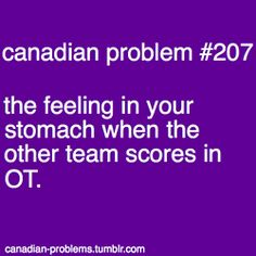 Not just a Canadian problem, especially during playoffs.