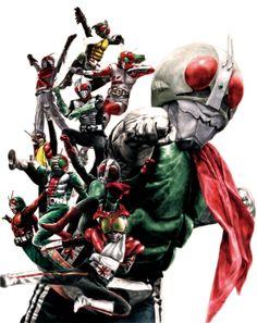 Ten veteran Kamen Riders | 10人ベタランの仮面ライダー