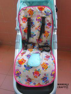 ARTESANATO COM QUIANE - Paps,Moldes,E.V.A,Feltro,Costuras,Fofuchas 3D: como fazer um forro para cadeirinha de bebê