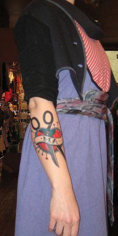 sewing tattoo via Flickr