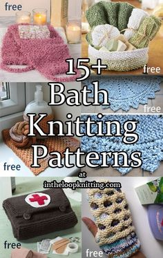 Knitting Patterns for the Bath. Most patterns are free