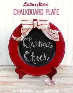 diy chalkboard plate diygifts christmas, chalkboard paint, christmas decorations, crafts, painting, seasonal holiday decor