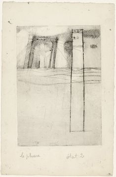 Louise Bourgeois. Le Phare (The Lighthouse), state III. (1946/1947)