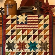 Old Glory Quilt Kit from Kim Diehl's Simple Whatnots Club 7 using her Helping Hands Collection for Henry Glass Fabrics by fabric406 on Etsy