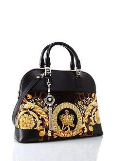 "Versace | ""Vanitas"" Athena Velvet Handbag | Bags | Women | Shop at us.versace.com - official Versace online shop (a favourite repin of VIP Fashion Australia www.vipfashionaustralia.com - Specialising in blacklabel fashion - womens clothing Australia - Italian fashion) What is your fashion style?"