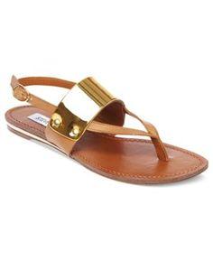 Cuff Flat Thong Sandals
