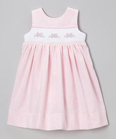 Loving this Wish Upon a Star Pink Bow Seersucker MaryDee Dress - Infant, Toddler & Girls on #zulily! #zulilyfinds