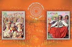 Latvia  Stamp - Costume