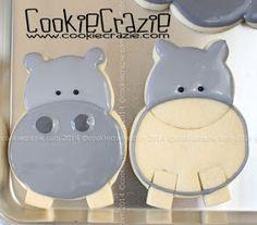 CookieCrazie: Hippopotamus Cookies (Tutorial)