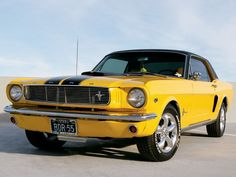 1966 Mustang- I've got the yellow fever.