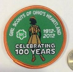 girl scouts 100th anniversary patch songfest 2012 iso