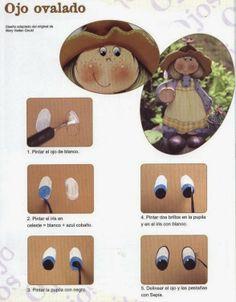 Name: primer tesoro Views: 1 Size: KB Eye Painting, Doll Painting, Painting On Wood, One Stroke Painting, Doll Face Paint, Country Paintings, Doll Eyes, Sewing Dolls, Foam Crafts