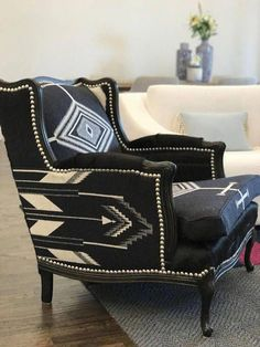 This Western furniture Pendleton fabric Chair, black and white is just one of the custom, handmade pieces you'll find in our chairs & ottomans shops. Western Furniture, Rustic Furniture, Home Furniture, Antique Furniture, Modern Furniture, Furniture Market, Outdoor Furniture, Furniture Stores, Cheap Furniture