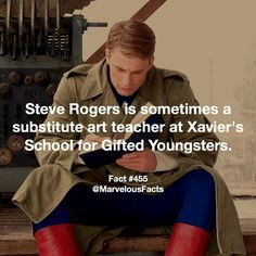 Steve Rogers a sub at Xavier's School for the Gifted?!?!
