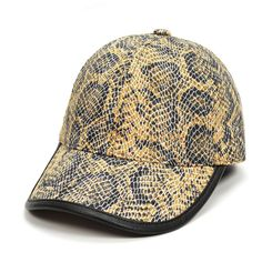Snake Skin Print Baseball Cap Snapback Mesh Casual Caps for Men Women Outdoor Travel Sun Hat Men Hip Hop Hat