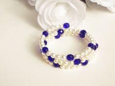 Hey, I found this really awesome Etsy listing at https://www.etsy.com/listing/243953867/white-blue-bridesmaid-bracelet-swarovski