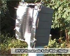 The Homestead Survival   DIY $1 Homemade Solar Water Heater   http://thehomesteadsurvival.com