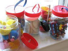 Peanut Butter Craft Storage Jars