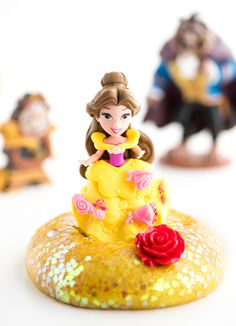 Slime isn't just for boys. Make this Beauty and the Beast Homemade Slime to delight your little princesses at home. Inspired by Belle's infamous yellow gown, this slime recipe is fit for a queen. It's pretty yellow color is made even more vibrant. Beauty And The Beast Crafts, Beauty And The Beast Party, Glitter Spray Paint, Glitter Slime, How To Make Slime, How To Make Homemade, Science Experiments Kids, Science For Kids, Fun Easy Crafts