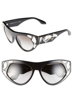 06d9840dd23f Free shipping and returns on Prada  Voice  56mm Sunglasses at Nordstrom.com.
