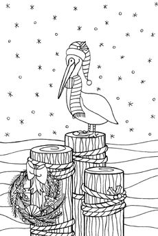 blackline christmas coloring pages - photo#40