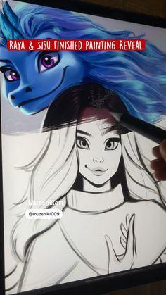 Cool Art Drawings, Art Drawings Sketches, Disney Drawings, Pretty Art, Cute Art, Princess Drawings, Ipad Art, Digital Art Tutorial, Digital Art Girl