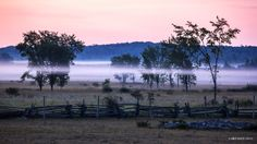 Along the Billings Stretch at Dawn - by Mikell Herrick